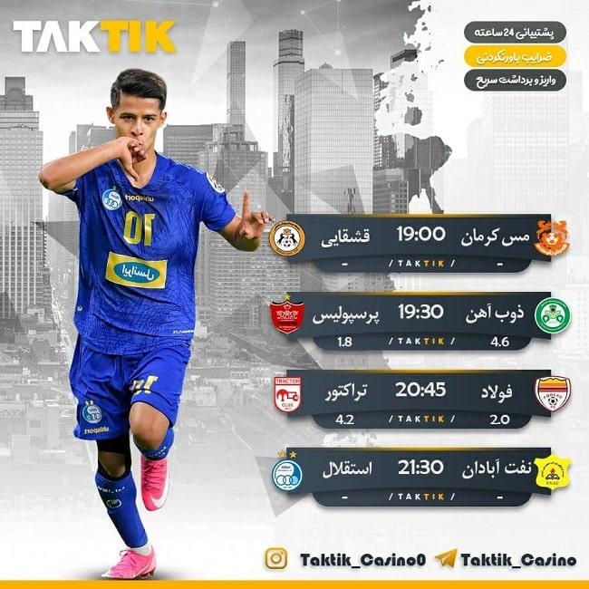پیش بینی فوتبال امروز بازی های دوشنبه 3 خرداد 1400